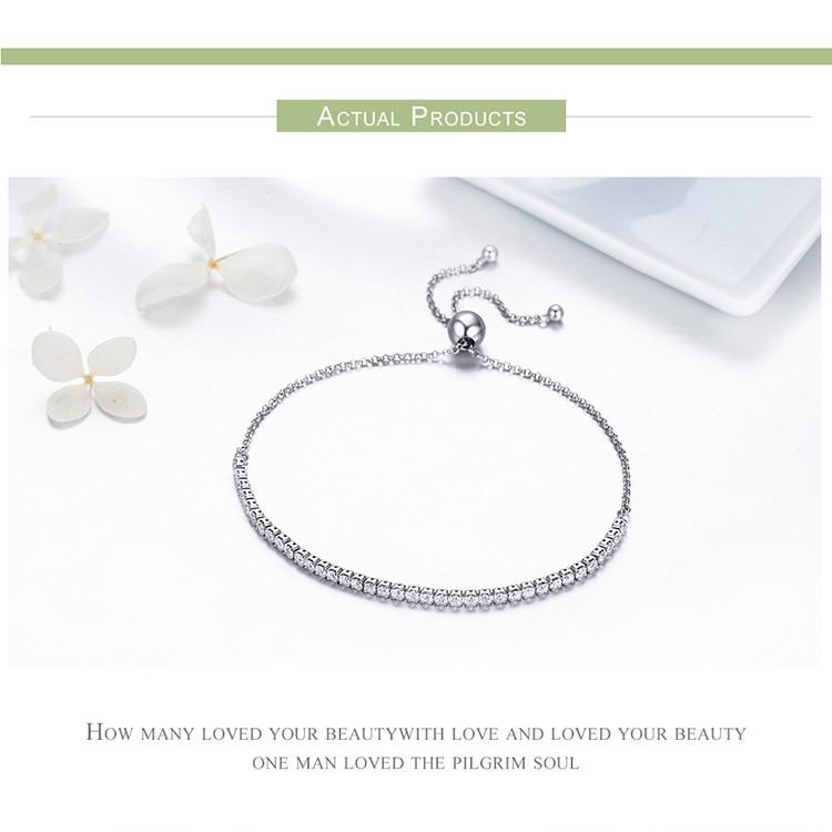 HTB1y7ATpOFTMKJjSZFAq6AkJpXa7 BAMOER Featured Brand DEALS 925 Sterling Silver Sparkling Strand Bracelet Women Link Tennis Bracelet Silver Jewelry SCB029
