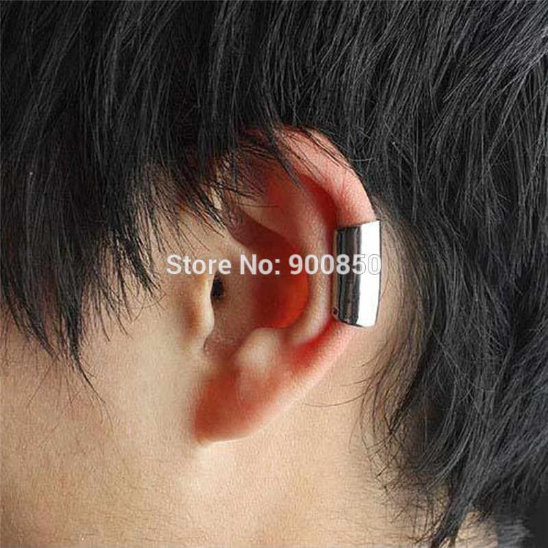 パンクシンプルなスタイル耳クリップオン軟骨用女性シルバーイヤリング非ピアス耳カフジュエリー1ピースません10pairs