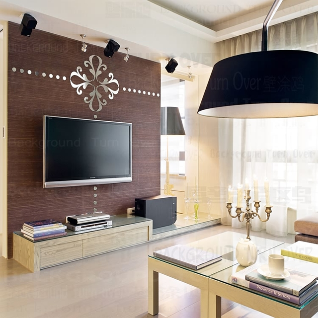 DIY Creative Abstract Chandelier TV Background 3D Adhesive Decoration Mirror Wall Stickers Living Room Dining