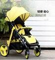 Carrinho de bebê hadnd guarda-chuva carro portátil dobrável carrinho de bebê verão