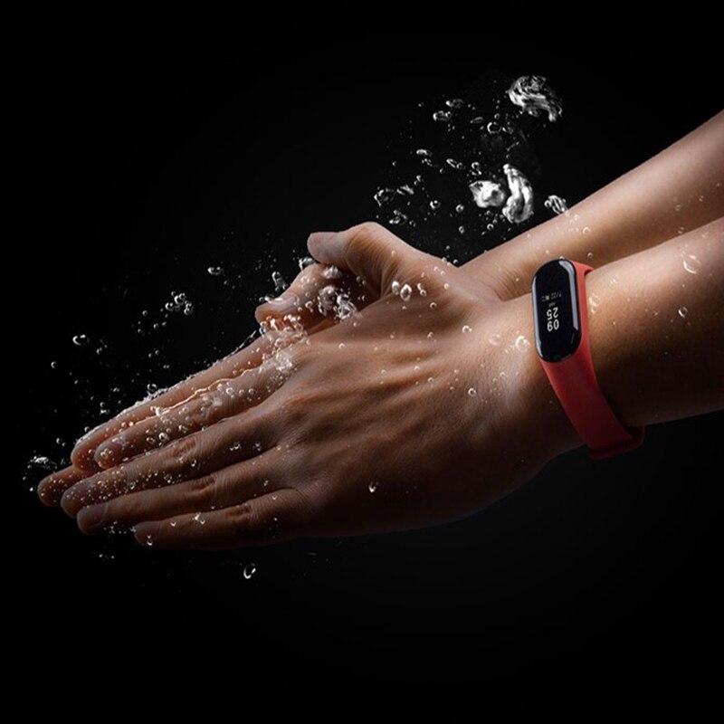 Original Xiao mi mi bracelet 3 bracelet intelligent Fitness mi bande 3 grand écran tactile OLED Message fréquence cardiaque temps Smartband - 2