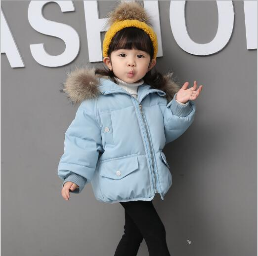 f7bc0aa20 2018 New Fashion Baby Boys Jackets Fur collar Autumn Winter Jacket ...
