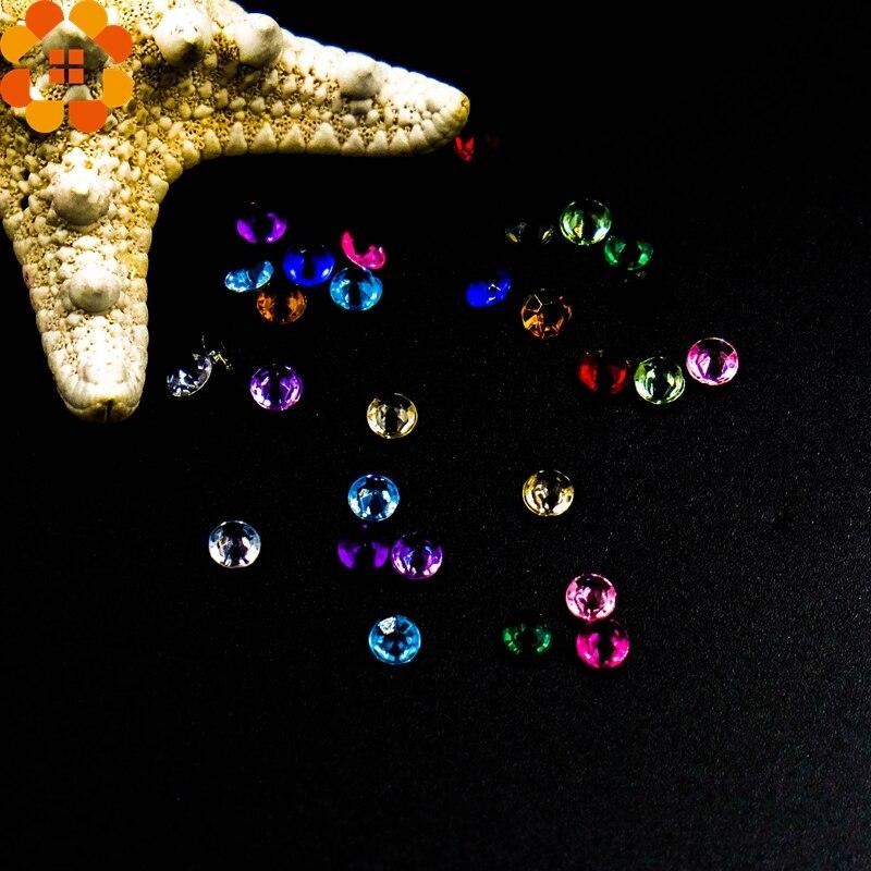 Alta calidad! 500 unids/lote 4.5mm bling cristales de acrílico diy artesanía dia