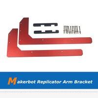 Aluminum Alloy Frame Side Edge Fixed Arm Bracket For Makerbot Replicator 3D Printer