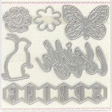 YaMinSanNiO Insect Animal Irregular Figure Letter Metal Cutting Dies Scrapbooking Stitch Craft Die Cut Stencil Troqueles