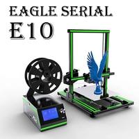 Anet Eagel Serial E10 E12 E16 Desktop 3D Printer Aluminum Frame High Precision Reprap Prusa i3 Big Size DIY 3D Printer Set
