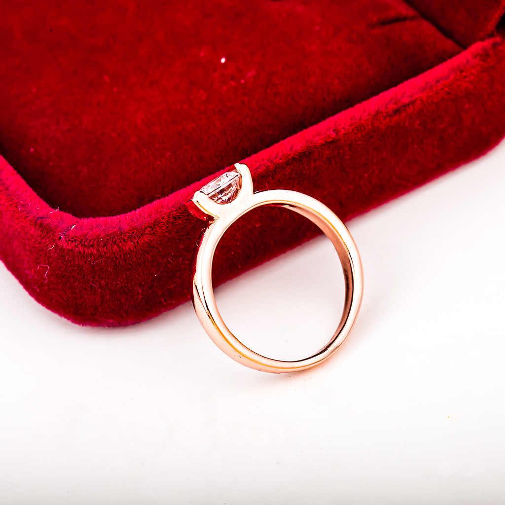 ขายร้อนแหวนปรับ Rose ดอกไม้สีทองเปิดนิ้วมือแหวนของขวัญวันวาเลนไทน์ Drop Shipping