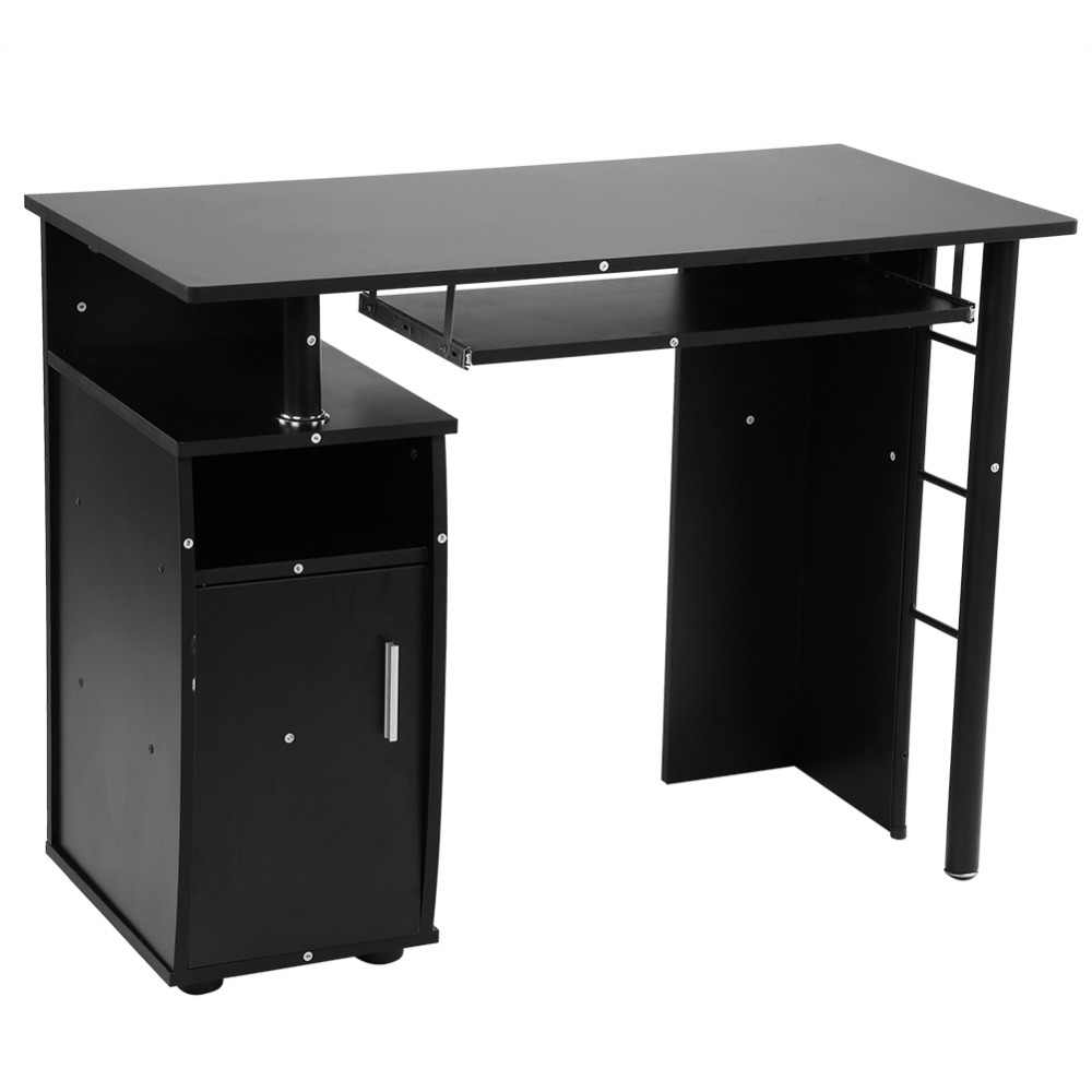 Prime Modern Iron Computer Desk Office Student Study Table Corner Furniture With Cupboard Shelves Computer Table Interior Design Ideas Gentotryabchikinfo