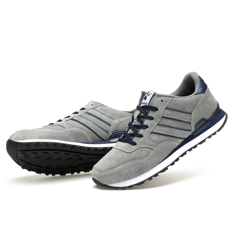 Image 5 - Valstone Men's Autumn Genuine Leather Sneakers 2019 waterproof moccasins Antiskid Rubber walking shoes comfortable hombres grey-in Men's Casual Shoes from Shoes
