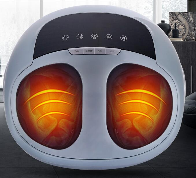 Heating Air Pressure Foot Massager multifunctional electric 3D foot massage instrument roll kneading foot scrape health care hfr 8802 3 healthforever brand wireless control kneading device legs instrument electric shiatsu air bag foot massager machine