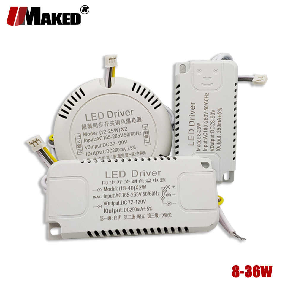 Sharplace Transformateur dAlimentation Convertisseur Driver pour Plafonnier Panneau LED 3-5W