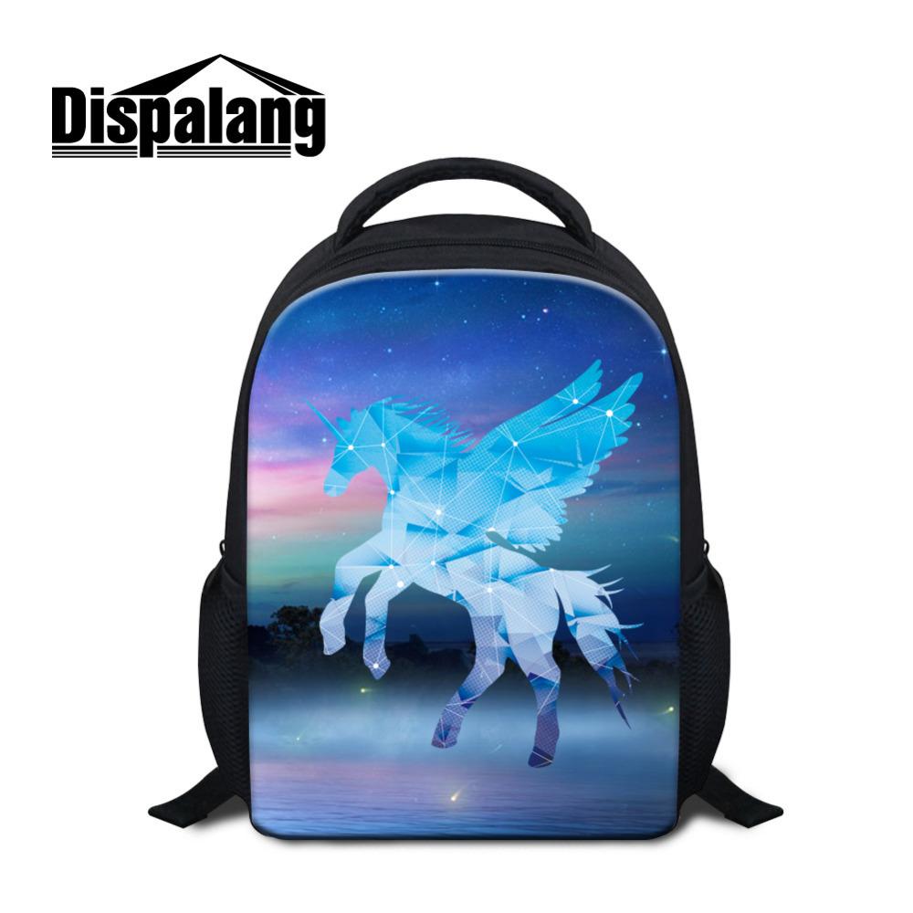 Dispalang Unicorn Cartoon Small School Bags Horse light Weight Kindergarten  Mini Backpack Child Baby Casual Shoulder Bag 02f507d6e65ee