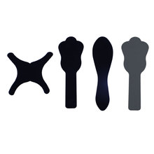 4 pcs/pack Dental Oral Cheek Photographic Black Background Board Backdrop Plate