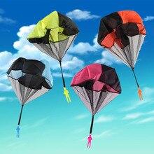 Ручные метания мини игры солдат игрушечные парашюты для детей на открытом воздухе веселые спортивные детские развивающие парашюты игры