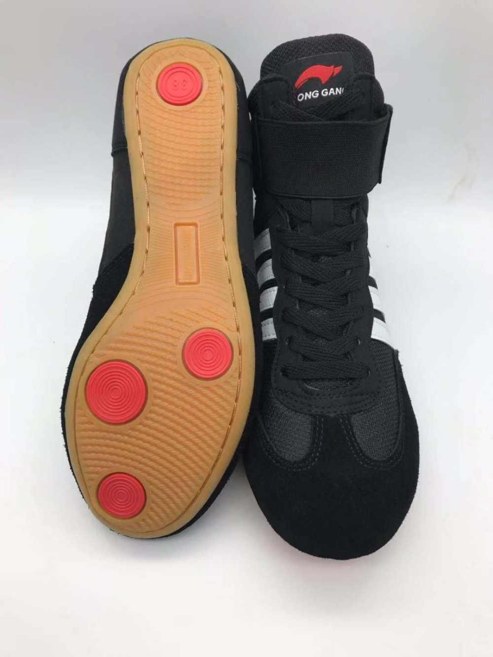 الرجال أحذية مصارعة أحذية مصارعة عالية المطاط تسولي تنفس برو المصارعة والعتاد للرجال والنساء Boxeo