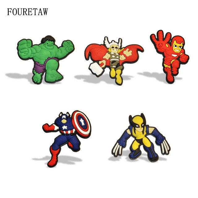 1 Piece FOURETAW Cartoon Super Hero Kawaii Iron Man Hulk