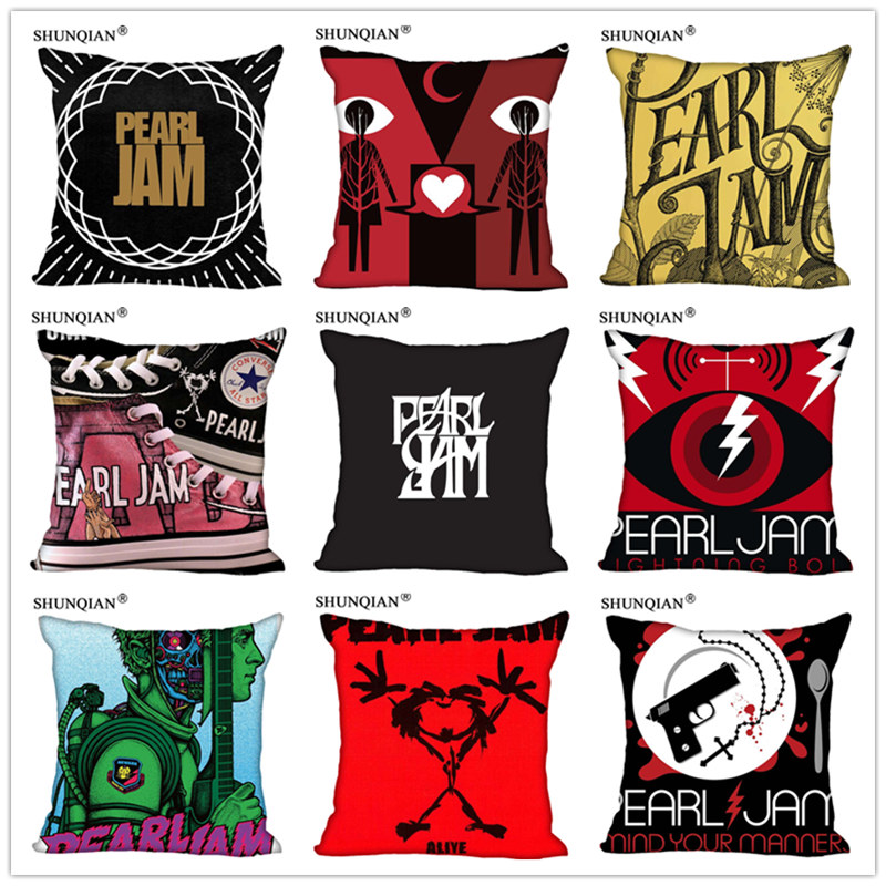 Customized Pillow Cover  Pearl Jam Decorative Pillowcase Square Zipper Pillow Cover 20X20cm 35X35cm 40x40cm