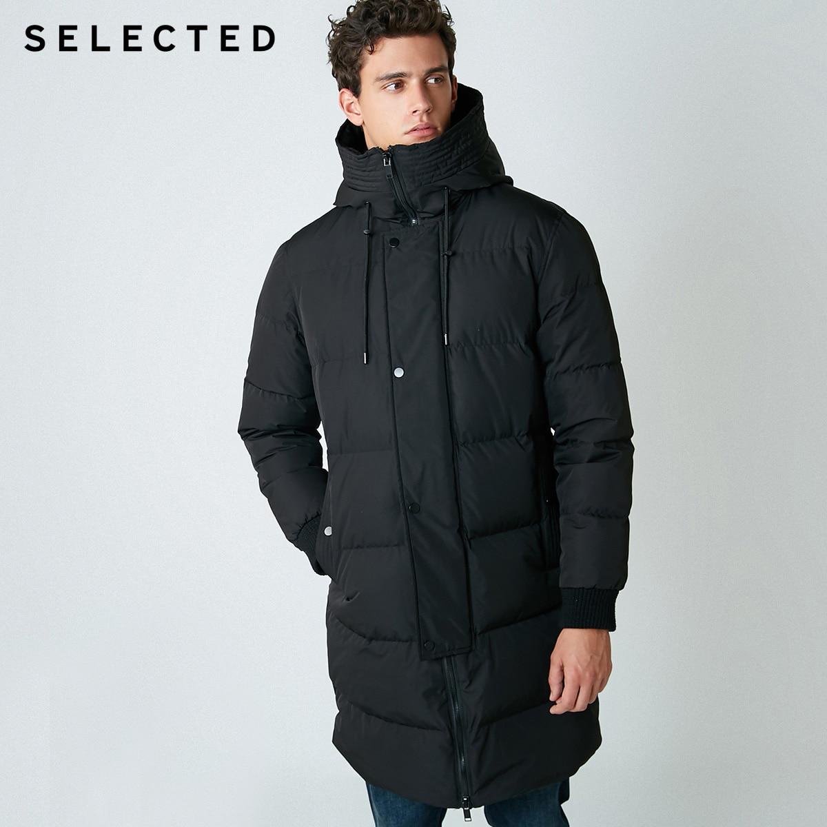 SELECTED nouveau hiver doudoune hommes fermeture éclair et chapeau décontracté moyen et Long manteau costume S   418412503 - 2