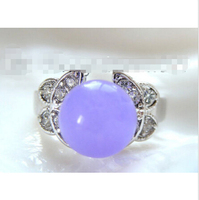 free shipping WONDERFUL 10mm round lavender natural  ring a0436^^@^ GP style Fine jewe