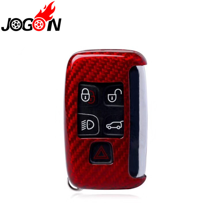 Red Carbon Fiber Remote Key Case Protector Cover for Jaguar XE XF XJ F PACE F