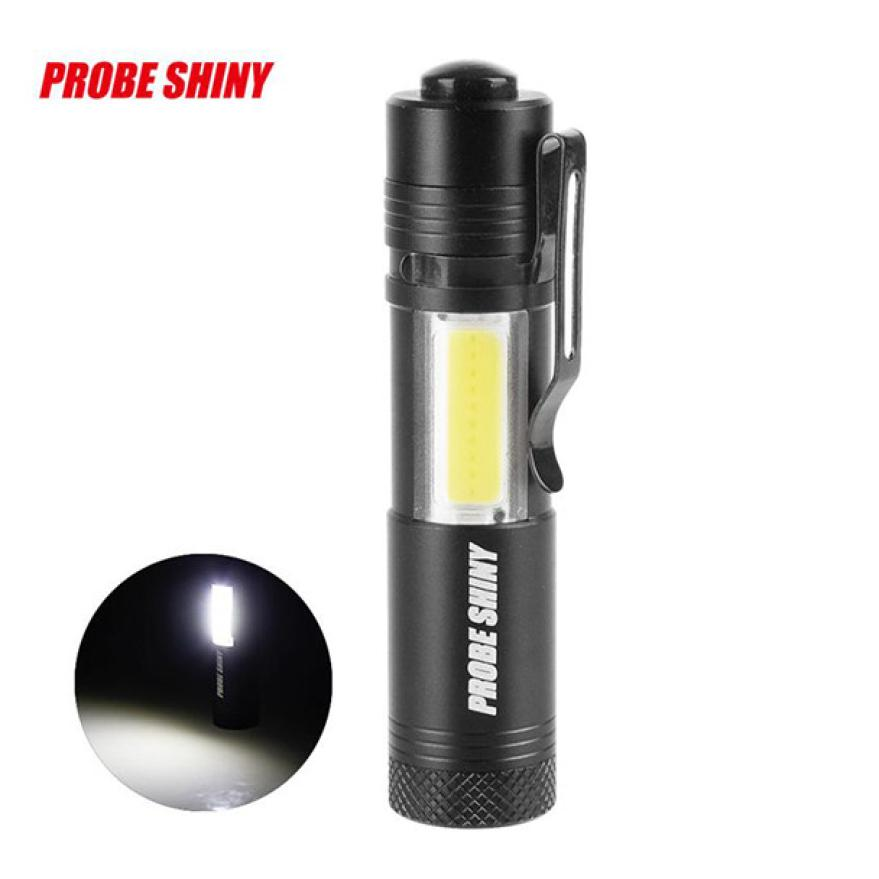 PROBE SHINY Zoomable Outdoor Cycling Super Bright XM-L Q5+COB LED 4 Mode 3500Lm 14500 Flashlight Torch Safety Charge Travel PJ5