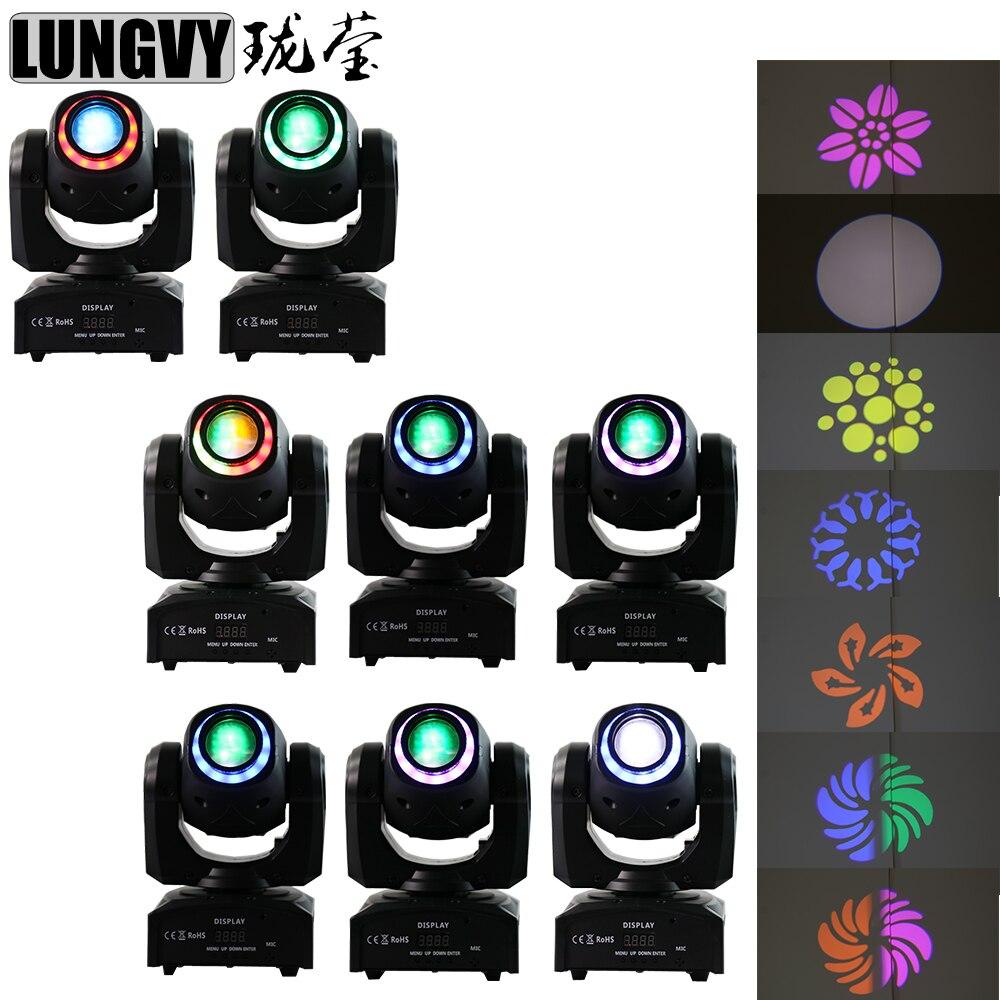 Free Shipping 8pcs/Lot 30W LED Spot Moving Head Lights 30 watt DMX Disco DJ Stage Lighting