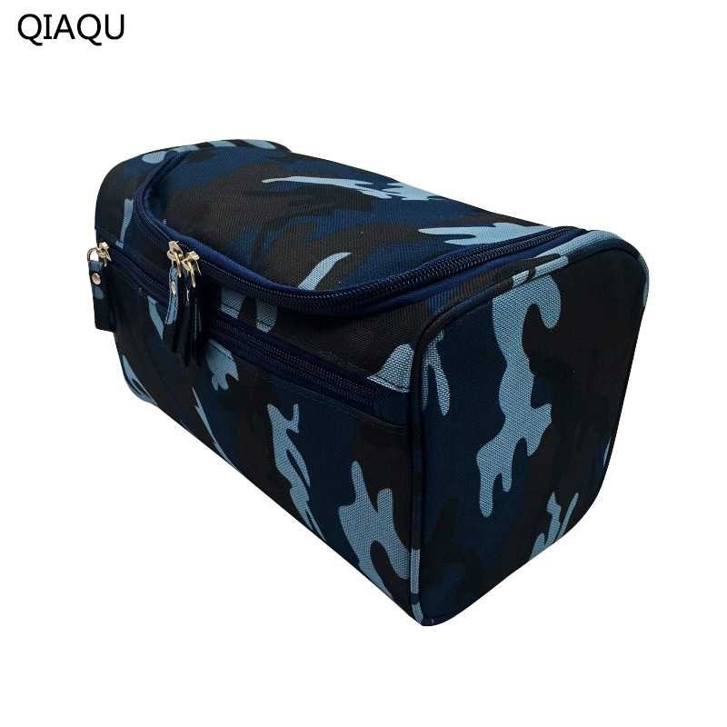 QIAQU Man Hanging Toiletry Bag Nylon Travel Organizer Cosmetic Bag For Women Large Necessaries Make Up Case Wash Makeup Bag