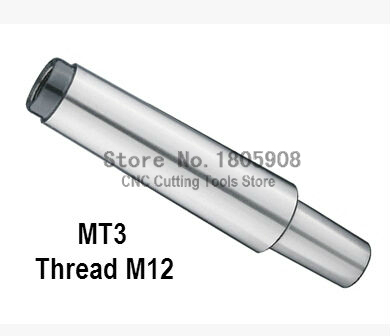 Manchon de perçage réducteur MT3 à B18 Morse perceuse à queue conique mandrin tonnelle perceuse capacité 3-16mm filetage fin 12mm