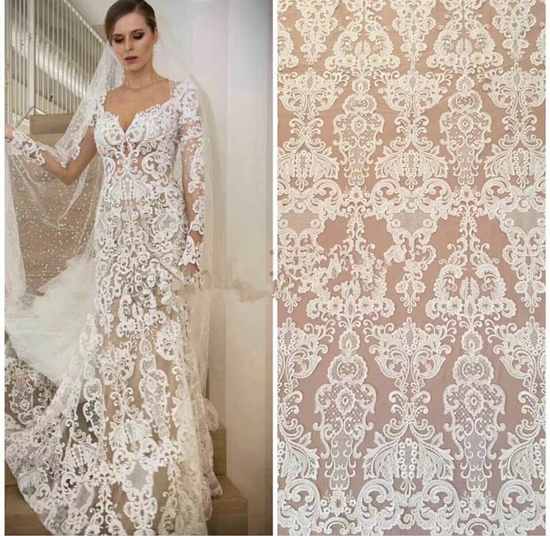 Hot sellig LJY 120786 african french Guipure cord lace fabric new arrival high quality african cord
