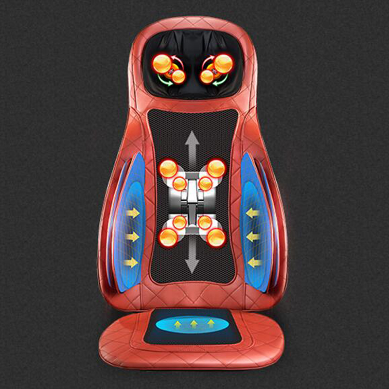 Electric Massage Cushion Therapy Massager Full Body Rolling Massage Back Neck Buttock Massager for Car and Home Use kneading back and buttock massage home