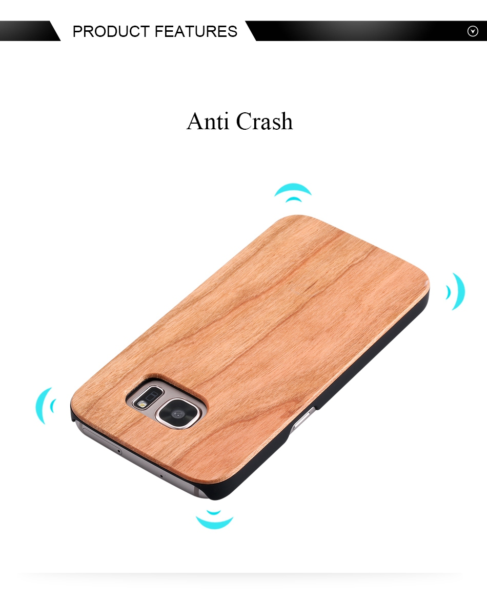 For Samsung Galaxy S8 Plus Real Wooden Case For Samsung S8 Galaxy S7 S6 Edge Back Cover (3)