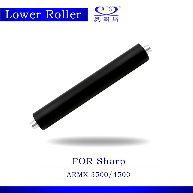 1PCS MX3500 MX4500 Photocopy Machine Lower Pressure Fuser Roller For MX 3500 4500 Copier Parts 1pcs photocopy machine lower pressure fuser roller for canon ir2018 copier parts ir 2018