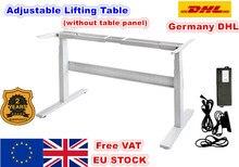 [Ab teslimat] Flip ayarlanabilir yükseklik iki ayak iki kesitli elektrik motoru kaldırma masası kaldırma sütun katlanır masa siyah/beyaz