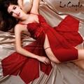 2016 Sleeveless Women Nightgown Mini Night Dress Sleepwear Polyester Lace Short Sleepwear Night gown