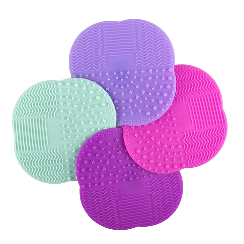 1 PC 8 Colors Silicone Cleaning Cosmetic Make Up Washing Brush Gel Cleaner Scrubber Tool Foundation Makeup Cleaning Mat Pad Tool 1pcs brushegg cleaning makeup washing silicone glove scrubber board 1pcs toothbrush powder brush cosmetic clean tools set
