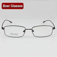 9068 眼鏡男性のフルリムメガネ処方眼鏡 rx 新しいライト純チタン眼鏡フレーム