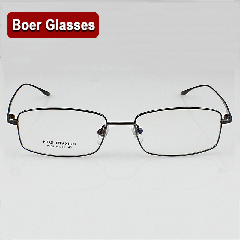 New Light Pure Titanium Brillengestell RX Eyewear Herren Vollrand Brillen Prescription Spectacle 9068