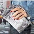 2017 Новая Мода Змеиный узор Многофункциональный Телячья Кожа женская Сумка Мини Сцепления Сумки Марка Дизайн Shouler сумки