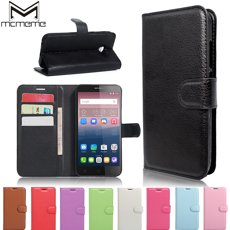 Cellphones & Telecommunications Phone Bags & Cases Lovely Srhe For Alcatel Pop 4 Plus Case Cover Business Flip Silicon Leather Wallet Case For Alcatel Pop 4 Plus 5056d With Magnet Holder