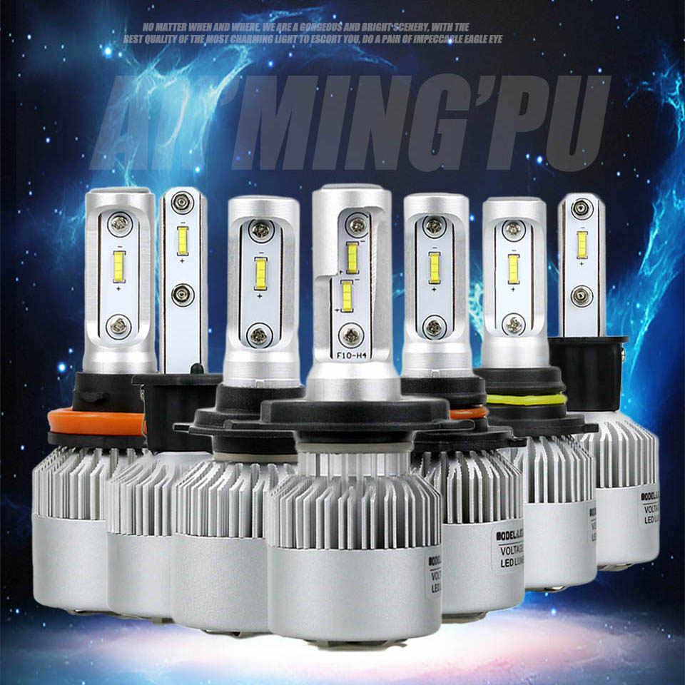 ANMINGPU 2017 16000lm/זוג פנס נורות H7 H4 LED H8 H11 HB3/9005 HB4/9006 H1 H3 9012 H13 9004 9007 72 w אוטומטי הנורה רכב אור