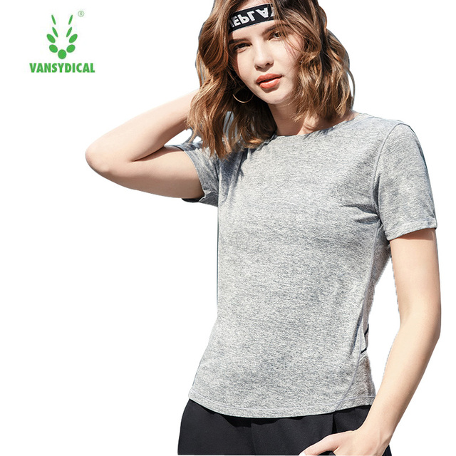 Women Gym Grey Yoga Crop Tops Yoga Shirts Long Sleeve Workout Tops