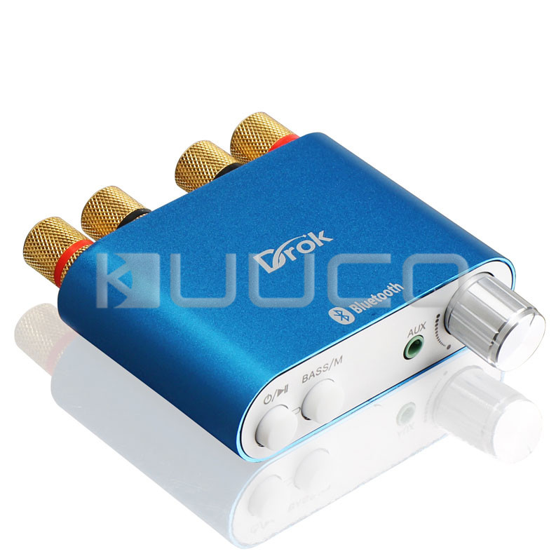 100W Bluetooth 4.0 Audio Amplifier 50W x 2 Audio Receiver HiFi 2 channel Digital Amplifier + EU Plug Power Supply + Signal Cable кабель инструментальный vovox link direct s350 trs trs