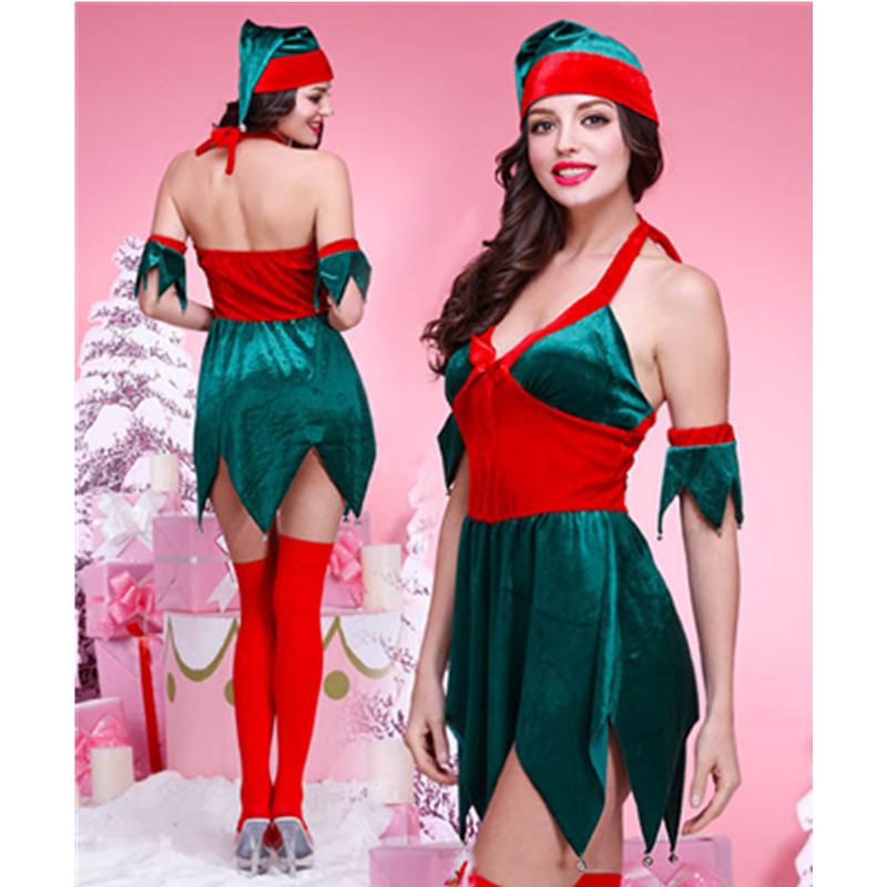 Fashion Beautiful Elegant Christmas Costume Christmas Reindeer Costume Snowman Costume Santa Claus Fancy Dress L70907