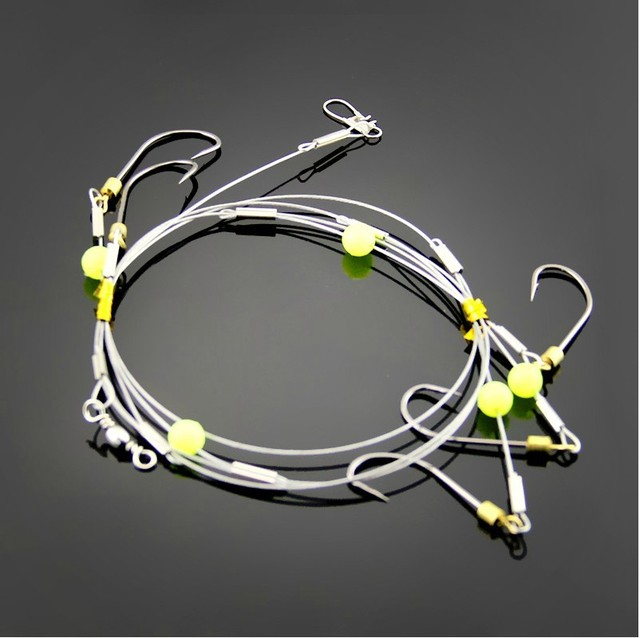 Quality special design explosion 1pcs/set spinner hooks string Capture ability setfishing lure fishing line connector tackle box