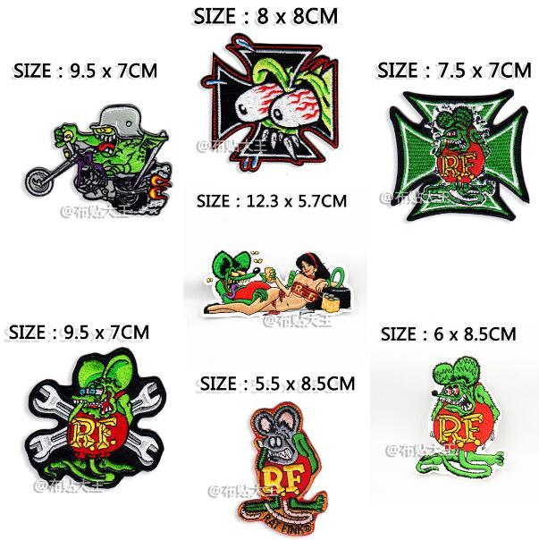 10pcs Rat Fink Stickers Hot Rods Big Daddy Graffiti Wall Ed Roth Racing Decal