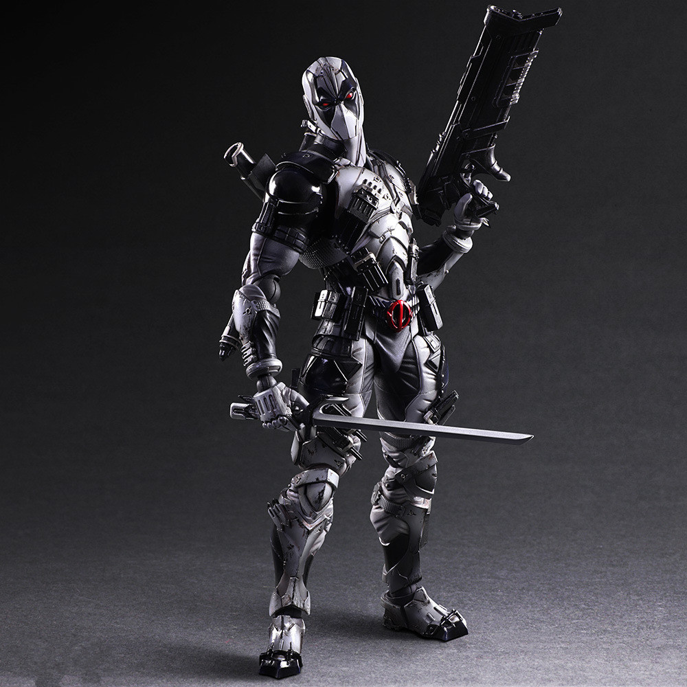 Deadpool Figure Play Arts Kai Grey Ver Wolverine X Men