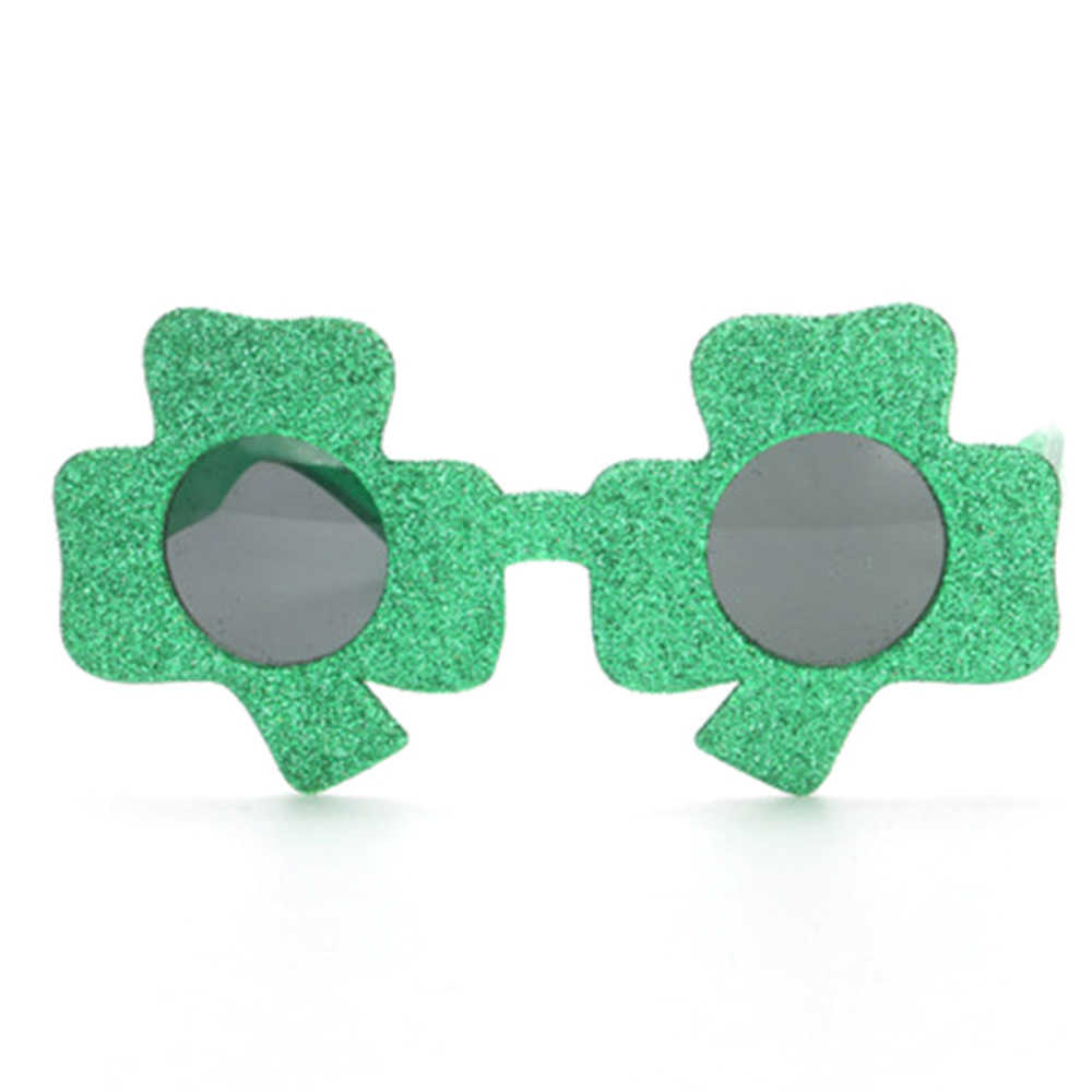 78e2df05f0d5 ... 1PC Funny Shamrock Design Sunglasses Creative Holiday Cosplay Costume  Glasses Party Masks For Spring St. ...