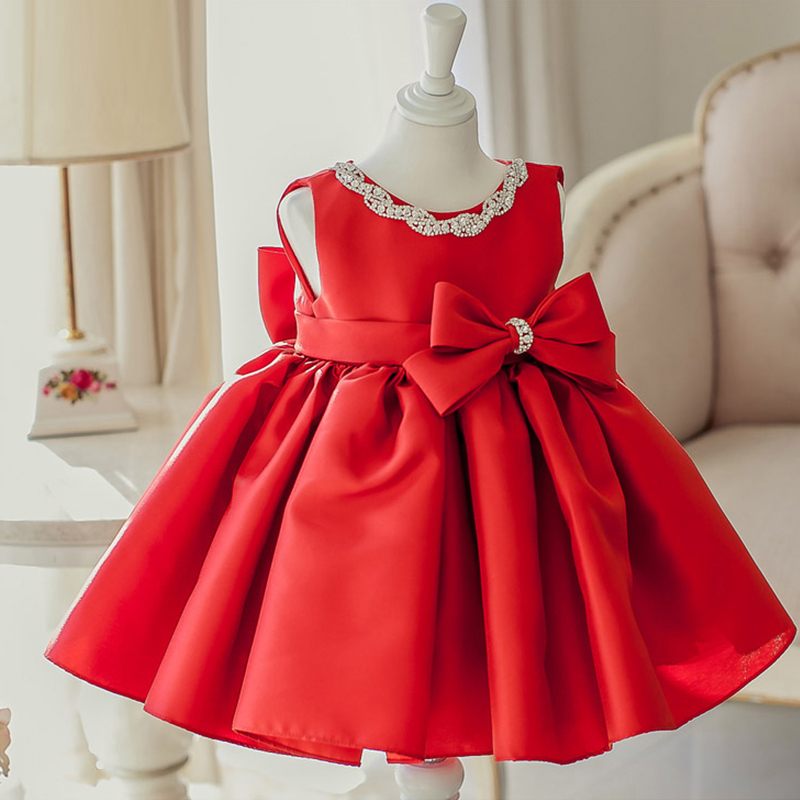 5a9b813f74d Free shipping Red Flower girls dresses for party and wedding Pageant dresses  for girls glitz Free custom made
