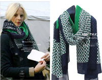 Foreign Trade Of The Original Single Super Beautiful Green Scarf Oversized Shawl Ladies Wind High Atmospheric