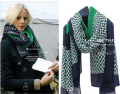 Foreign trade of the original single super beautiful Green Scarf oversized shawl ladies wind high atmospheric wind warm scarf
